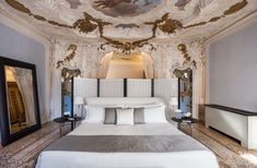 Discover Aman Venice, a luxury hotel in the regal Papadopoli palazzo, Italy with Old Master frescoes & private gardens set on the Grand Canal Grand Canal, Grand Hotel, Palazzo, Murano Chandelier, Seaside Resort, Grand Staircase, Red Walls, Luxury Accommodation, Italian Furniture