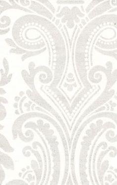 Metallic Silver Damask Wallpaper$59