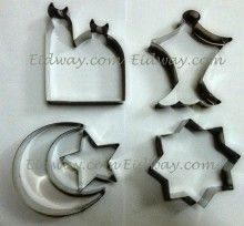 Islamic Shape Cookie Cutter Set...we have a set of these and we love them!  We bought them at Eidway.