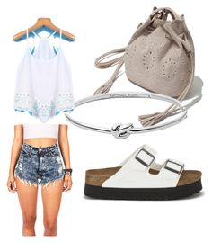 """Untitled #15"" by madison-lxii ❤ liked on Polyvore featuring Zara, Michael Kors and Birkenstock"