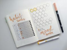 habit tracker and mood tracker for October :) liking it very much, and also off to a happy and good start . :)