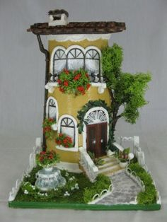 Clay Houses, Ceramic Houses, Clay Fairy House, Fairy Houses, Miniature Fairy Gardens, Miniature Houses, Diy Nativity, Diy And Crafts, Arts And Crafts