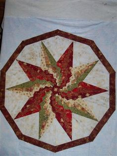 Stargello--10 point star for christmas table