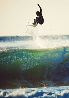 Surfing is a great way to get out of the house and in touch with nature.