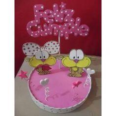 Adorno De Torta Gaturro  Goma Eva Con Base Y Feliz Cumple !75 Yoshi, Marti, Desserts, Cakes, Food, Girls, Happy Birthday, Jelly Beans, Centerpieces