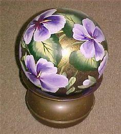 Purple Hibiscus Bowling Ball