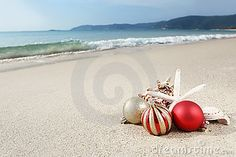 Christmas At The Beach | Christmas At The Beach Royalty Free Stock Photos - Image: 20840588