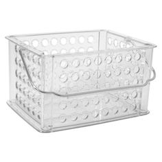 Utility Storage Bin with Handle Clear Small - Room Essentials™ Cube Storage, Storage Bins, Storage Containers, Container Organization, Organization Hacks, Organizing, Silverware Caddy, Cleaning Caddy, Home Storage Solutions