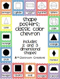 Shape posters in classic color chevron