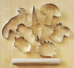 Forest Friends Cookie Cutter Set with mini by weewaldorf on Etsy