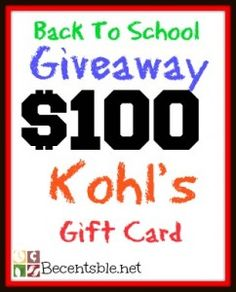 Giveaway: $100 Kohl's Gift Card