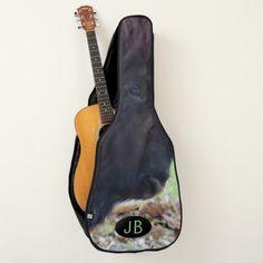 Painterly American Buffalo Western Monogrammed Guitar Case
