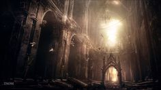 Abandoned Gothic Cathedral by inetgrafx (DeviantART) Gothic Castle, Gothic Cathedral, Abandoned Buildings, Abandoned Places, Derelict Places, Abandoned Mansions, Hilary Hahn, John Chrysostom, Gothic Wallpaper