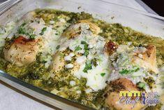 Pollo al curry con brócoli al microondas