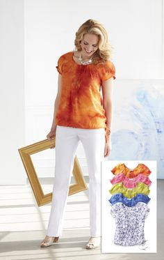 bacff496b9efa A simple and stylish summer look you can wear at the office or out with  friends. Our bright galliano shirt (also available in pink