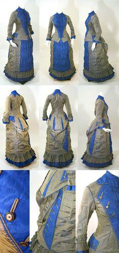 1876, silk graduation gown.