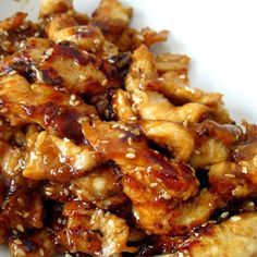 1lbs chicken, diced 1cup chicken broth, ½cup teriyaki sauce, ⅓cup brown sugar, 3 garlic cloves, minced. Combine chicken broth, teriyaki sauce, brown sugar and garlic cloves in large bowl. Add chicken to sauce, and toss to combine. Pour chicken mixture into crock-pot. Cook on low 4-6 hours, or until chicken is cooked through. Serve over hot cooked rice and spoon extra sauce if desired