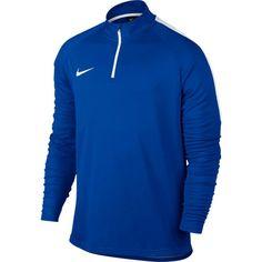 Nike Men's Dry Academy Drill Long Sleeve Quarter Zip Soccer Shirt, Size: Medium, Blue