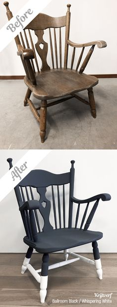 Pimp eenvoudig je oude meubels met Moodpaints Krijtverf. Creativity inspires! #krijtverf #metamorfose #blackwhite