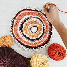 Stoked out of my mind because we started our shop only 3 months ago and got acce… – Knitting patterns, knitting designs, knitting for beginners. Abstract Embroidery, Embroidery Art, Punch Needle Patterns, Weaving Textiles, Punch Art, Rug Hooking, Yarn Crafts, Diy, Crochet