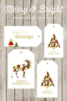 and Bright Printable Gift Tags Free printable Merry & Bright gift tags - love that moose!Free printable Merry & Bright gift tags - love that moose! Free Printable Christmas Gift Tags, Christmas Labels, Holiday Gift Tags, Printable Tags, Holiday Wishes, Merry Christmas Happy Holidays, Noel Christmas, Christmas Projects, Modern Christmas