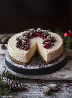 Julens ostekake med appelsin, hvit sjokolade og pepperkake   Siv Baker og Steiker