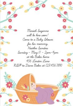 Diy Bottle Baby Shower Invitation Template For Baby Girl From