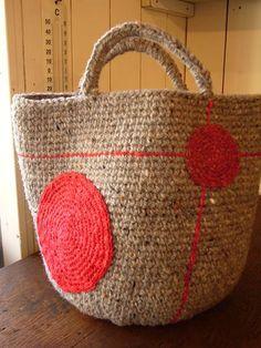 Jute crochet market bag