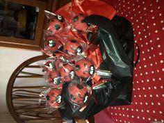 Ladybug popcakes