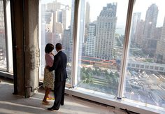 Picture desk Live: Barack and Obama, look out over the 9/11 Memorial
