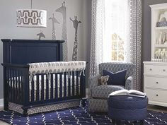 4 in 1 convertible wakefield crib by bassett furniture can be converted to a day blue nursery furniture