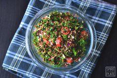 Argan-Oil Massaged Kale and Quinoa Salad with Spicy Grapefruit Dressing   SPIRITPLATE