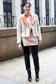 New York Fashion Week Street Style Fall 2013: Caroline Issa