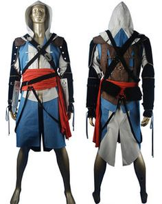 Assassin's Creed black flag edward kenway cosplay costume jacket hoodie halloween costume comic-con anime costumes make-up costume