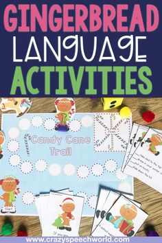Gingerbread language activities for speech therapy