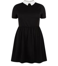 "Inspire. For the ideal work-wear to evening look try this collared skater dress with black tights and block heel ankle boots.- Collared neck- Cap sleeves- Fit and flare design- Mini length- Casual fit- Model is 5'9""/180cmInspire is created for women of size 18 to 28/EU 46 to 56**Selected styles are available up to size 32/ EU 60"