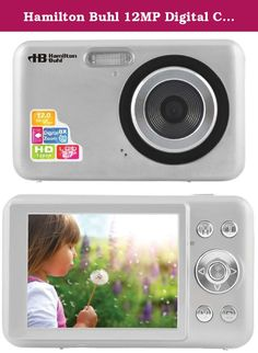 """Hamilton Buhl 12MP Digital Camera with Flash and 2.7"""" LCD. Introduce your students to the fun and art of digital photography with the Hamilton 5MP Digital Camera with Flash and 2.4 LCD. Product Features and Specifications: 5 Megapixel Digital Camera with Image Stabilization, Face Detection Smile Capture, 3 function : Digital Camera / Camcorder / Webcam, CMOS 5.0M pixels sensor ( 8.0M pixels by interpolation ), 2GB SD card Included (Minimum), 2.4 color TFT LCD display, Digital Zoom : 4 x..."""