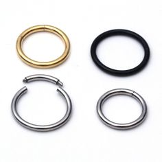 1PCS 1.2x8/10mm Nostril Nose Ring Unisex Lip Ear Cartilage Septum Ring Hoop Stud Steel Piercing Clip on Earrings Body Jewelry