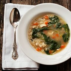 30 Minute Chicken and Rice Soup - 30 minutes and one pot is all you need to make this comforting soup.