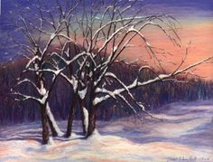 """Winter Stretch"" by Diane Leifheit Pastel ~ 17 x 24"