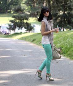 LOVE the pants, shoes, haircut.