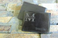 Personalized Genuine Leather Bi-Fold Men's by KottageInspirations