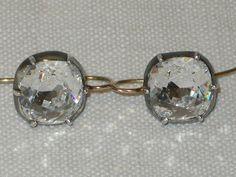 Antique Georgian Paste Button Earrings