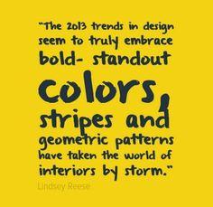 2013 Design Trends