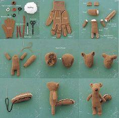Make a stuffed squirrel from a glove! Too cute!!