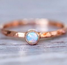 Rose Gold Luna Opal Ring