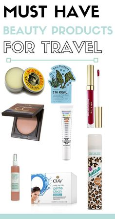 ESSENTIAL TRAVEL BEAUTY PRODUCTS The actual time spent traveling can go by extremely fast, but the memories people take from these experiences last for years and years to come. However, even when we attempt to prepare for a trip and pack accordingly, it always seems as if something gets left behind which is why I decided to create a post on my favorite essential travel beauty products.