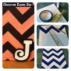 DIY Chevron Wall Hanging #DIY #crafts #home #decorating