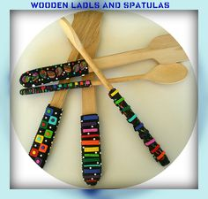 make wooden utensils fun with polymer clay