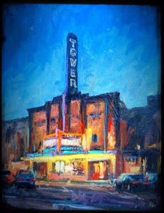 First Friday Art Walks are here! Both Downtown Bend & the Old Mill District have businesses open late.there's sensational local & national art & artists, musicians, performers, food & wine! ~ Art Walk Painting: Donald Yatomi, The Tower Theatre Bend, Central Oregon, Old Mill District, I See Stars, First Friday, National Art, Art Walk, Spring Art, First Art